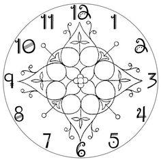 Arabic Plain Clock Face 1011x931 Pixels
