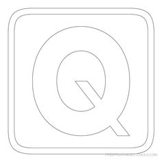 Printable Block Letter Stencil R  Alphabets    Block