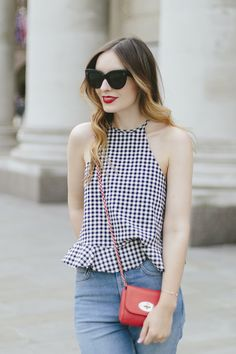 Gingham Outfit Zara Manchester What Olivia Did