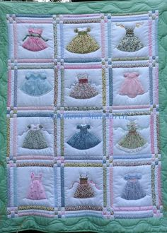 Such a pretty doll dress quilt posted by Laurie Anderson
