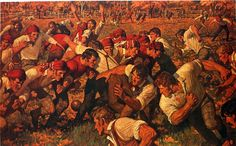 Arnold Friberg, The First Game, 1968. Private collection