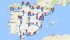 Mapa que agrupa los pueblos más bonitos de España según la asociación oficial que se encarga de seleccionarlos. Pero para armar este itinerario desde el blog, nos tomamosla libertad de completar la lista agregandomás … Spain Road Trip, Travel Store, Moraira, Beaux Villages, Spain And Portugal, Andalusia, Spain Travel, Amazing Destinations, Travel Around The World