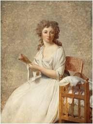 Retrato da Marquesa d'Orvilliers  Artista:Jacques-Louis David Encontro:1790 Tipo:retrato Técnica:pintura a óleo sobre tela Movimento:Neoclassicismo +/- Dimensões (H × W)131 × 98 centímetros Localização:Louvre , Paris ( França )