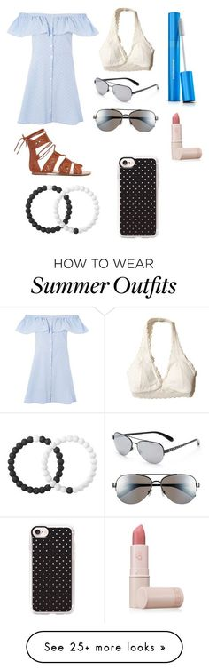Summer Outfits : Perfect Polka Dot Summer Outfit by juliamdessert on Polyvore featuring Hollist
