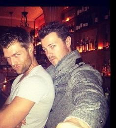 Some absolutely delicious eye candy, yumm! From Spartacus : Sparty himself Liam J McIntyre and super hot and sexy Agron - Dan G Feuerriegel