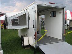 6x12 Enclosed Trailer Camper Conversion Enclosed Cargo Trailer Camper