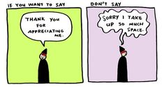 """Simple Illustrations Reveal the Positive Power of Saying """"Thank You"""" Instead of """"Sorry"""" - My Modern Met"""