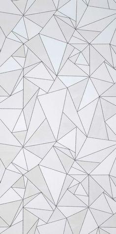 wandideen geometrische muster weiß