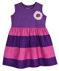 a9b40c8d6537 Pink   Mauve Stripe A-Line Dress - Infant Toddler   Girls