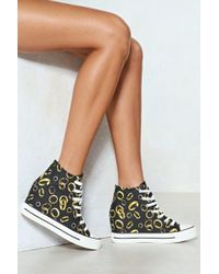 f51b62616bbb Nasty Gal - Should Of Put A Ring On It Wedge Sneaker - Lyst Nasty Gal