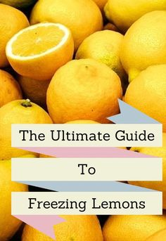 The ultimate guide to freezing Lemons Limes and Oranges great howto tips including how to freeze zest Moral Fibres Freezing Lemons, Freezing Fruit, Freezing Vegetables, Frozen Vegetables, Can You Freeze Lemons, Big Freeze, Jus D'orange, Frozen Fruit, Frozen Watermelon