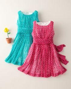 7f92b82767529 Polka-Dot Ruched-Bodice Dress by Helena   Harry Baby Girl Frocks