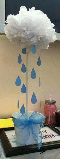 36f009bb9ca978d3cb465eea003bfcca.jpg 365×960 píxeles Rain Baby Showers, Elephant Baby Showers, Baby Elephant, Cloud Baby Shower Theme, Baby Boy Shower, Baby Shower Themes, Baby Boy Sprinkle, Baby Shower Centerpieces, Baby Shower Decorations