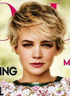 Girls Layered Short Wavy Bob Hairstyle with Side Swept Fringes for Thick Hair