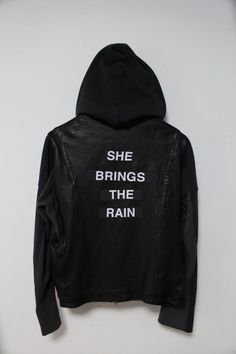 UNDERCOVERISM SS12  OPEN STRINGS  SHE BRINGS THE RAIN LEATHER JACKET