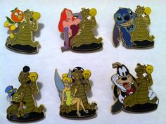 Imagination Gala event surprise pin series - Orange Bird, Jessica Rabbit, Stitch, Jiminy Cricket, Tinker Bell, Goofy