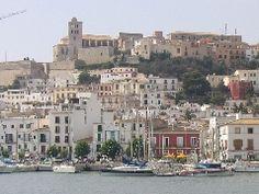 Bonita vista de Eivissa, Islas Baleares.