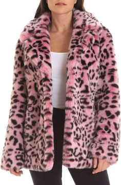 Looking for Avec Les Filles Animal Print Faux Fur Coat ? Check out our picks for the Avec Les Filles Animal Print Faux Fur Coat from the popular stores - all in one. Leopard Fur Coat, Pink Faux Fur Coat, Fuzzy Coat, Pink Leopard, Vestidos Animal Print, Tutu, Fur Coat Outfit, Outfit Trends, Outfit Ideas