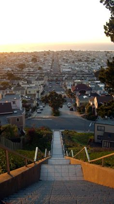 Moraga st from golden gate heights. - Didn't know that there was such a beautiful view from the stairs. Only knew the beautiful mosaic stairs as it is all this time.