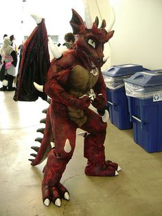 A Red Dragon Fursuit Dang Amazing, Man.