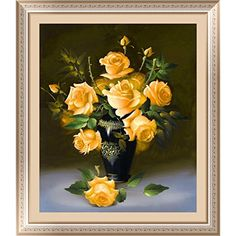 Cheap painting mirror, Buy Quality stickers mail directly from China sticker seal Suppliers: Diy diamond painting yellow rose flower diamond embroidery cross-stitch wall sticker home decoration round diamond n Crystal Embroidery, Rose Embroidery, Embroidery Kits, Cross Stitch Embroidery, Cross Stitch Kits Uk, Cross Stitch Rose, Yellow Rose Flower, Yellow Roses, Purple Rose