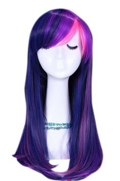 Long Mixed Purple / Pink My Little Pony Twilight Sparkle Straight Cosplay Wig My Little Pony Costume, My Little Pony Dolls, My Lil Pony, My Little Pony Party, Twilight Sparkle Costume, Princesa Twilight Sparkle, Costume Wigs, Cosplay Wigs, Cosplay Hair