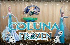 Como fazer Coluna de Balões Frozen