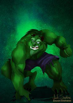 Disney Halloween: Beast as Hulk by IsaiahStephens on deviantART