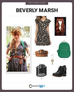 """The best costume guide for dressing up like Beverly """"Bev"""" Marsh the member of the Losers' Club from Stephen King's horror film, It. Casual Cosplay, Cosplay Outfits, Cosplay Costumes, Cosplay Ideas, Halloween Costumes For Teens, Cool Costumes, Costume Ideas, Redhead Costume, Beverly Marsh"""