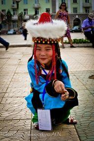 Buryat girl taken on Sukhbaatar Square, Ulaanbaatar, Mongolia at Buryat Cultural Festival Altargana    Taken by Alex Newby