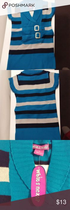 Toddler Dress Stripped teal green with black and grey has two buckles on the side new with tags Whats Next Dresses Casual