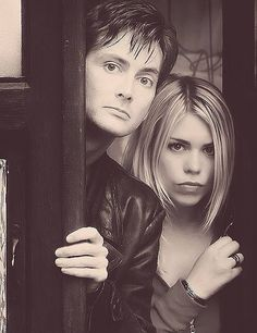 The 10th Doctor (David Tennant) and Rose Tyler (Billie Piper) - 2005 to 2008.