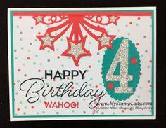 Stampin' Up!'s Birthday Blast Birthday Card. Find supplies at www.shopwithmystamplady.com