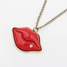 Wow, #Sexy red lips ,Zinc Alloy #Sweater #Chain #Necklace, with Resin & rhinestone, like this? http://www.beads.us/product/Zinc-Alloy-Sweater-Chain-Necklace_p257005.html?Utm_rid=194581