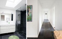 Bathroom and hallway minimalistic