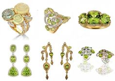 Bizzita.com - We love Peridot, here are the facts and myths (Jane Taylor peridot and diamond ring)