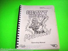 HEAVY-METAL-MELTDOWN-By-BALLY-1987-ORIGINAL-PINBALL-MACHINE-MANUAL-w-SCHEMATICS #pinball #pinballmachine #pinballmanual #pinballrepair #heavymetalmeltdown