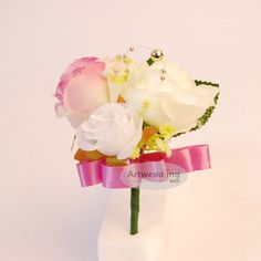 Free Shipping of Silk Roses Wedding Bouquet:)