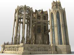 Elven Temple Vue 6 4 img jpg 800×600 Elven city Architecture Elven