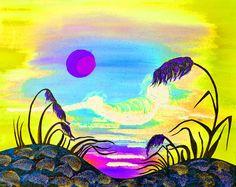 Sparkling Sunset V5 Painting