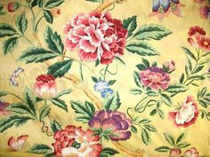 Luoyang Yellow - Fabric I used in my Living Room - stunningly beautiful print!!!