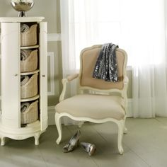 Ivory Bedroom Collection Storage Cabinet from Willis & Gambier Ivory Bedroom Furniture, Living Room Furniture Uk, Contemporary Living Room Furniture, French Furniture, Shabby Chic Furniture, Bedroom Armchair, White Armchair, Painted Furniture, Clip It