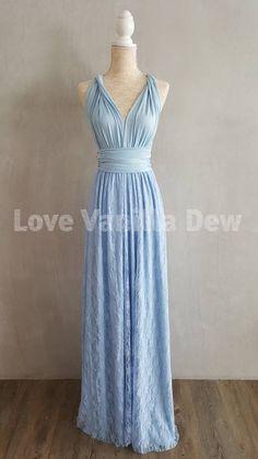 38832fde Bridesmaid Dress Infinity Dresses Powder Blue Lace Floor Diamond Wedding  Dress, Wedding Gown A Line