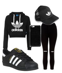 """""""Adidas"""" by masquadlit on Polyvore featuring Topshop, New Look, adidas, adidas Originals and Maison Margiela"""