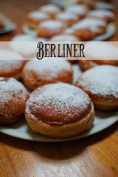 Berliner / pancakes / donuts- Berliner / Pfannkuchen / Krapfen Today in the video there are Berliners 🤗 I just felt like it and thought: Why not do it yourself? Seafood Recipes, Appetizer Recipes, Dessert Recipes, Cooking Recipes, Citron Cake, Macaron, Food Items, Food And Drink, Easy Meals