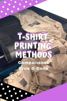 The main types of t-shirt printing are screen printing, heat transfers, DTG(direct to garment) printing, dye sublimation, and vinyl printing. Types Of T Shirts, Cool T Shirts, Different Types, Tee Design, Printed Tees, Screen Printing, Graphic Tees, Prints, Tutorials