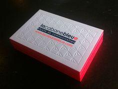 Design : Sophie Pertuisel • Carte de visite La Cabane B • Letterpress / Impression typographique / Débossage • Printed by Badcass