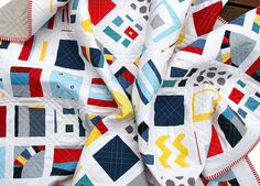 nautical quilts | Red Pepper Quilts: Kona Modern Quilts ~ A Fun(ky) Finished Quilt