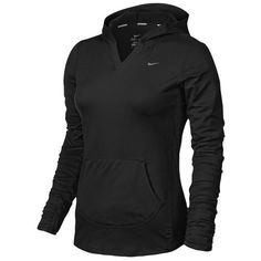 Nike Dri-FIT Element Hoodie - Women's - Running - Clothing - Black/Black/Reflective Silver