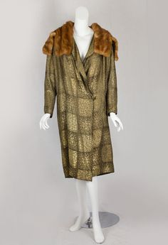1925 - Unknown. Silk,metallic, mink fur.